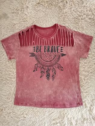 Camiseta Vermelha Brave - Linha Stoned