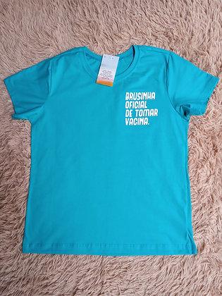 Camiseta Azul Tomar Vacina - Linha Like