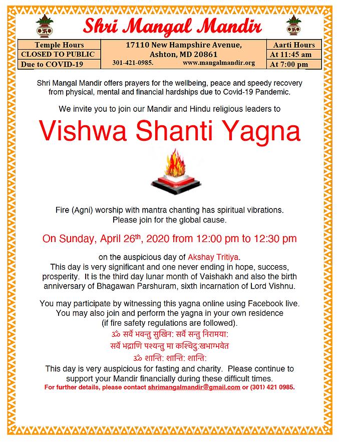 Vishwa Shanti Yagna Full Details.png