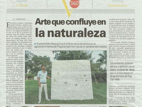 Arte que confluye en la naturaleza