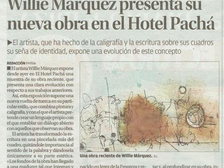 Willie Marquez presenta su nueva obra en el Hotel Pacha