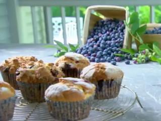 justpureflavors.com Blueberry Whipped Cream Jam Muffins