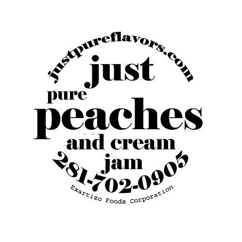 Peaches and Cream Jam - 8oz