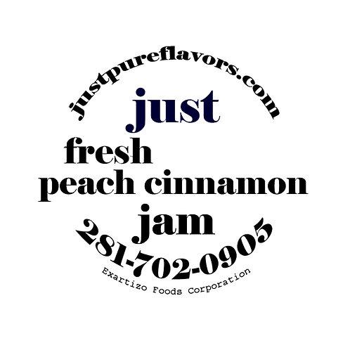 Brandy Peach Cinnamon Jam - 8oz