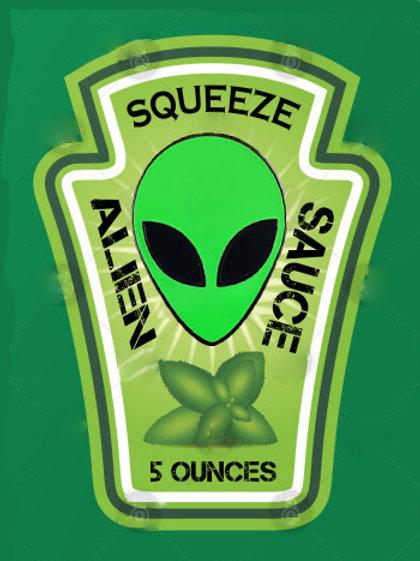 Alien Sauce -  (restaurant size) 5 oz Squeeze Bottle