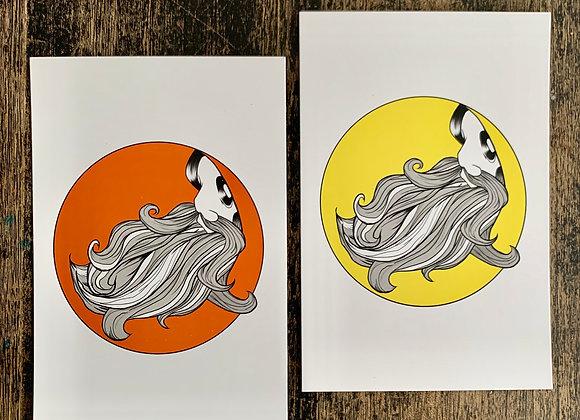 Bearded Man Mini Prints