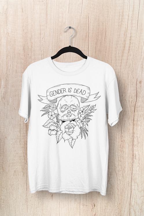 Gender is Dead White Tee