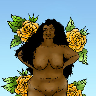 Lucky Little Queer, body positive nude portrait