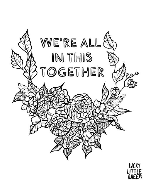 Print-at-Home Colouring Sheet - We're All in This Together