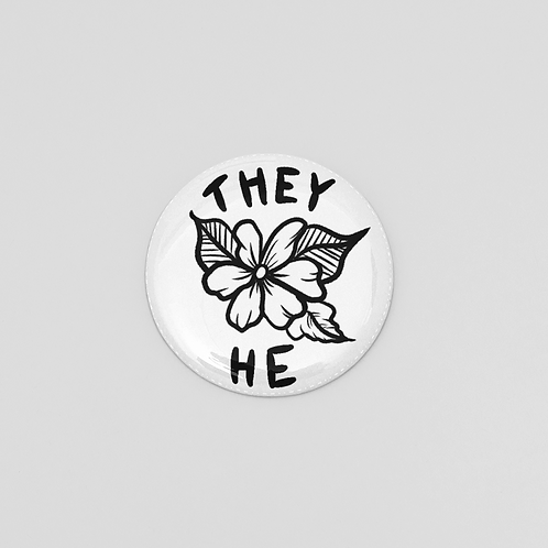 They/He Pronoun Pin