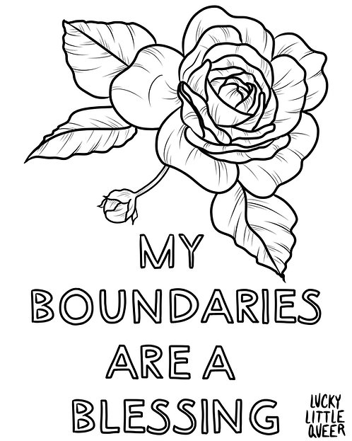 Print-at-Home Colouring Sheet - My Boundaries Are a Blessing