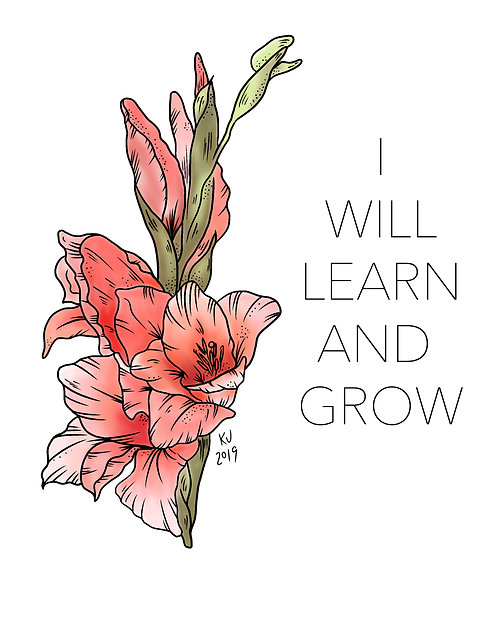 I Will Learn and Grow Digital Print