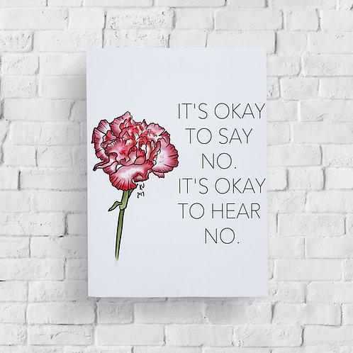 It's Okay to Say No Print