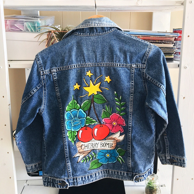 Lucky Little Queer Custom Hand-Painted Jacket