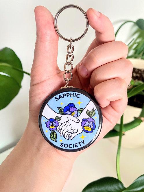 Sapphic Society Keychain