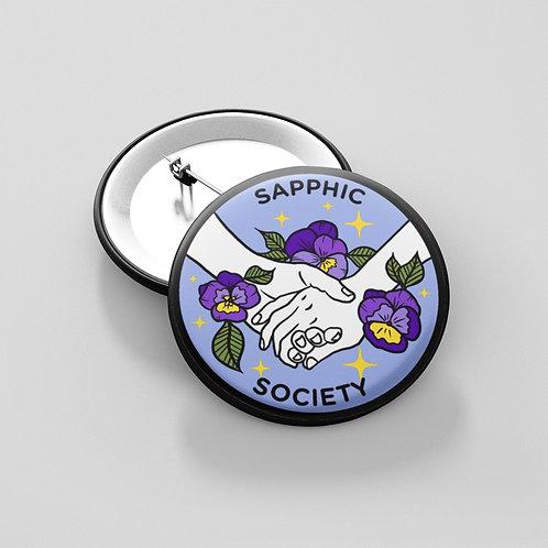 Sapphic Society Button
