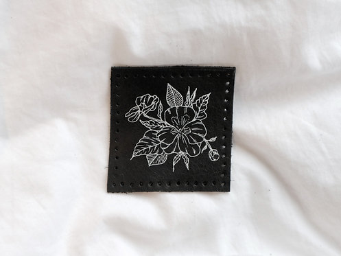 Floral Violet Leather Patch