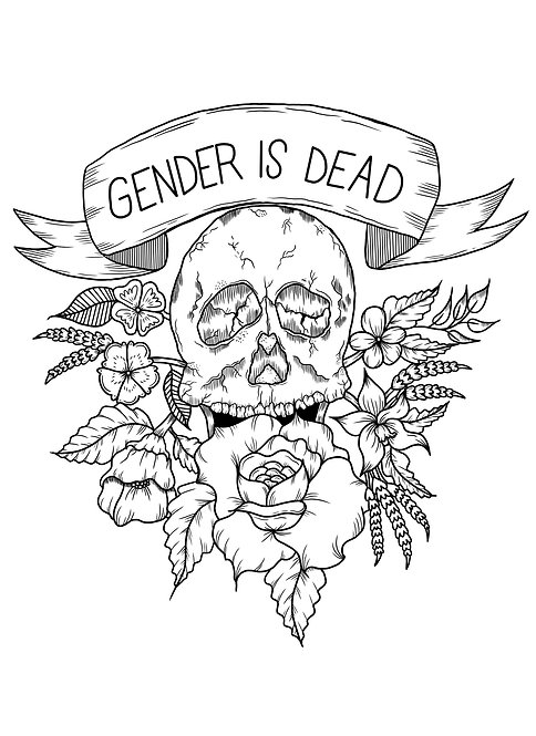 Print-at-Home Colouring Sheet - Gender is Dead