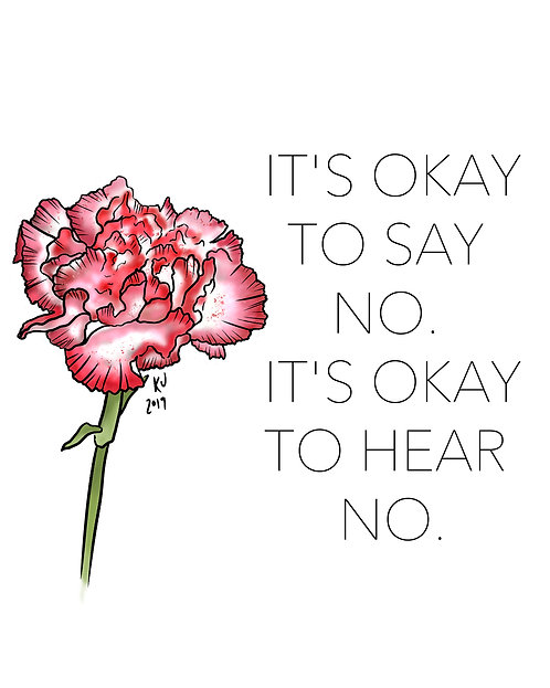 It's Okay to Say No Digital Print