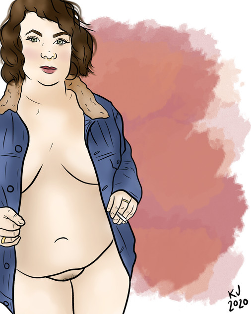 Lucky Little Queer: freelance artist's custom nude digital portrait