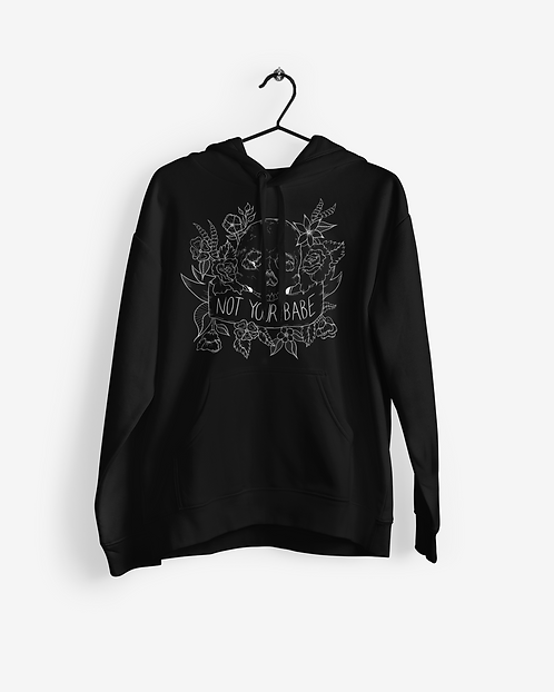 Not Your Babe Black Hoodie
