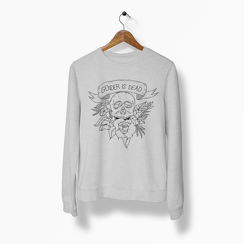 Gender is Dead Heather Grey Crew Neck