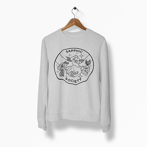 Sapphic Society Heather Grey Crew Neck