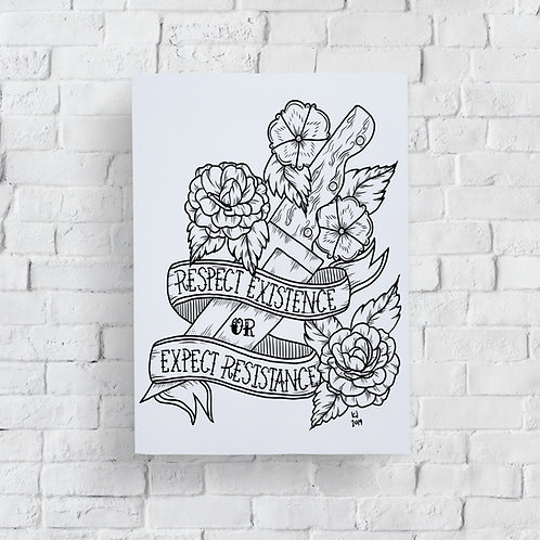 Respect Existence Print