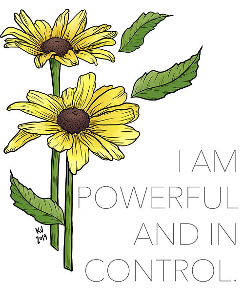 I am Powerful and in Control Digital Print