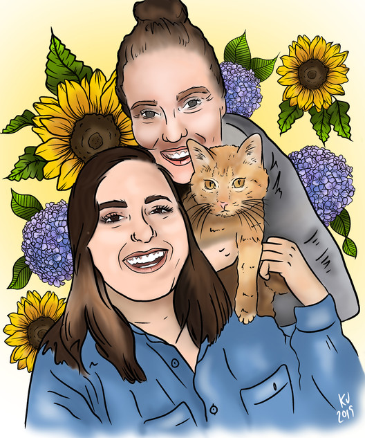 Lucky Little Queer: freelance artist's custom digital couple portrait
