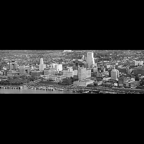 "Memphis Skyline (ca. 1955) 11""x35"" Laminated Only"