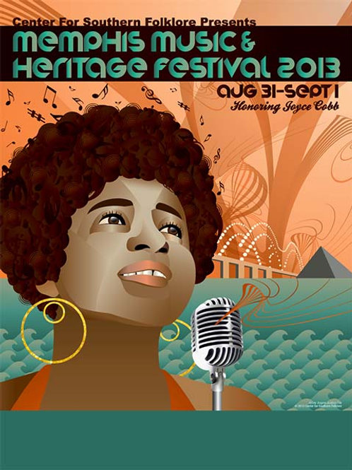 2013 Memphis Music and Heritage Festival Poster