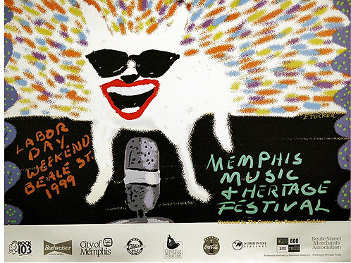 1999 Memphis Music and Heritage Festival Poster