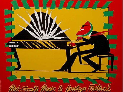 1991 Mid-South Music and Heritage Festival Poster