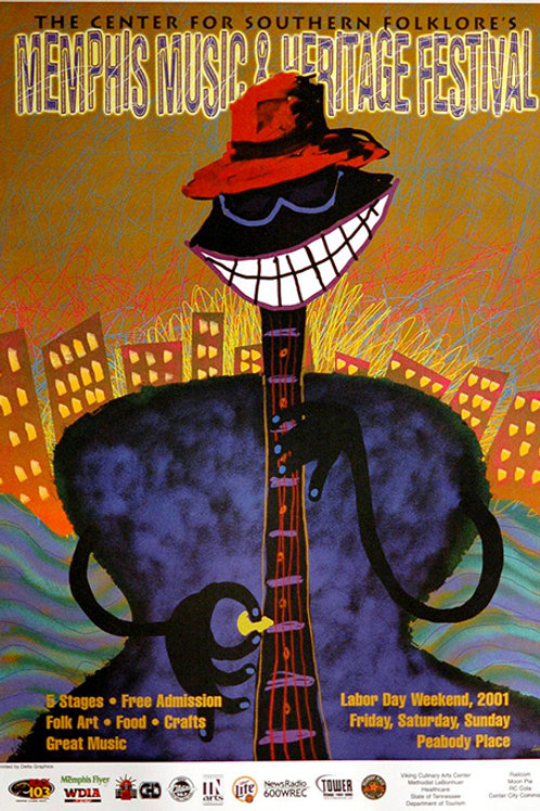 2001 Memphis Music and Heritage Festival Poster