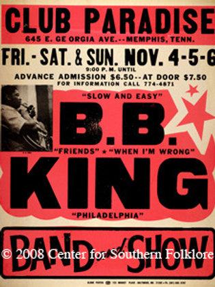 B.B. King at Club Paradise