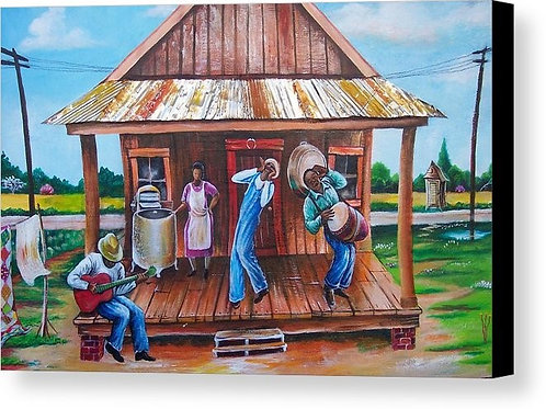 Back Porch Jammin'  8 x 10 print by Art Covington