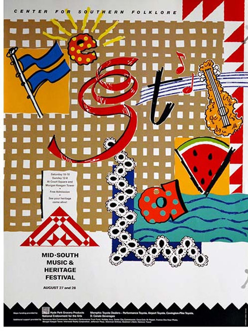 1988 Mid-South Music and Heritage Festival Poster