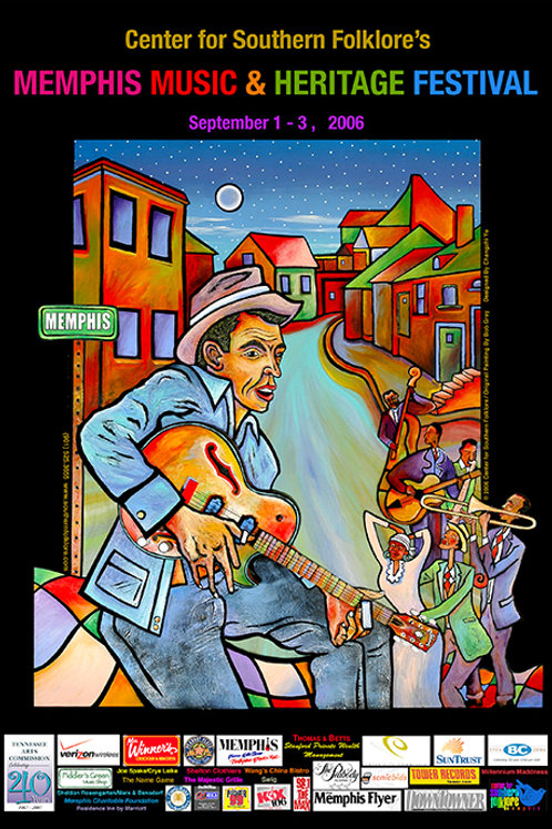 2006 Memphis Music and Heritage Festival Poster
