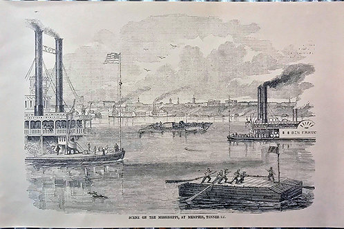 Scene on the Mississippi at Memphis, Tennessee
