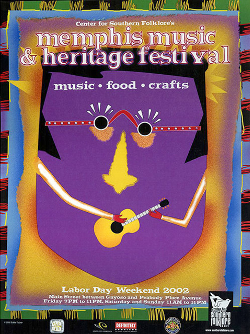 2002 Memphis Music and Heritage Festival Poster