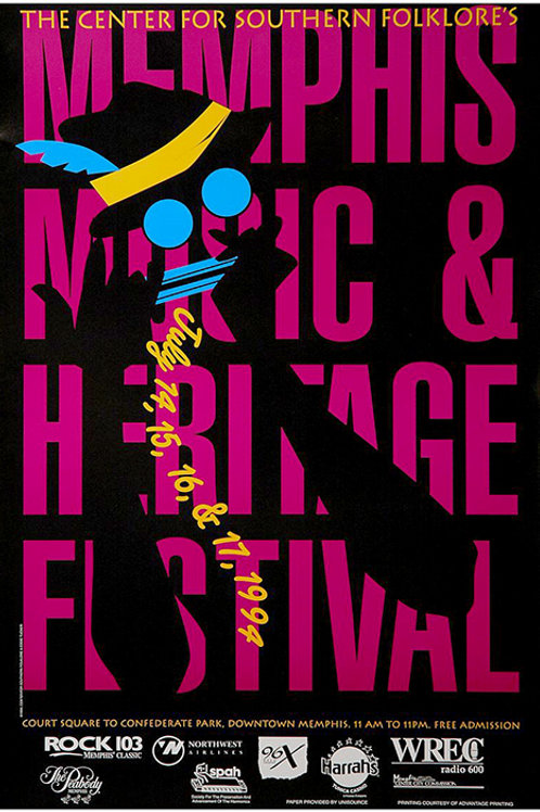1994 Memphis Music and Heritage Festival Poster