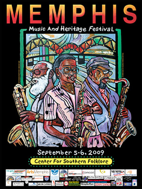 2009 Memphis Music and Heritage Festival Poster