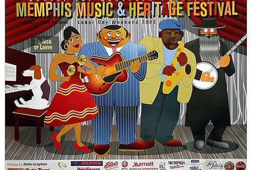2003 Memphis Music and Heritage Festival Poster