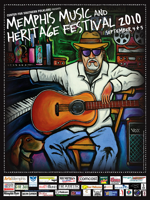 2010 Memphis Music and Heritage Festival Poster