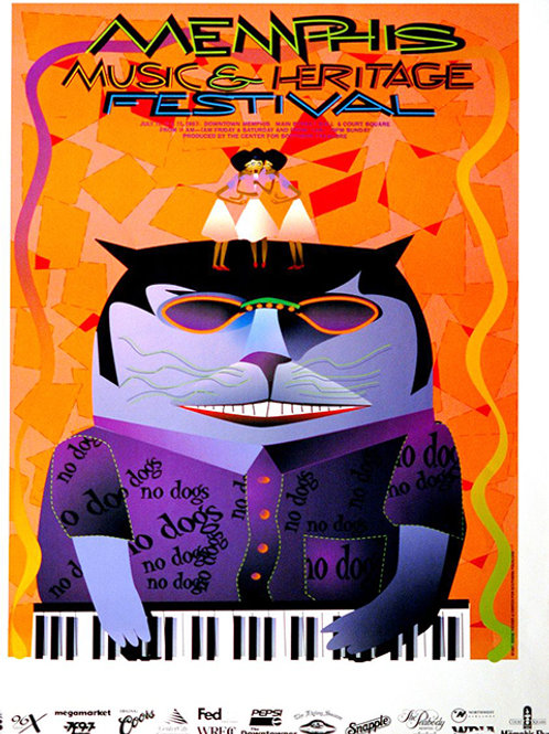 1997 Memphis Music and Heritage Festival Poster