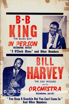 BB King and Bill Harvey Poster