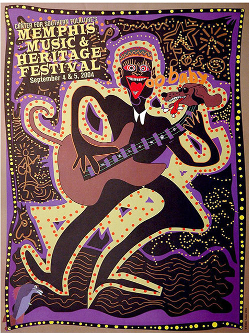 2004 Memphis Music and Heritage Festival Poster