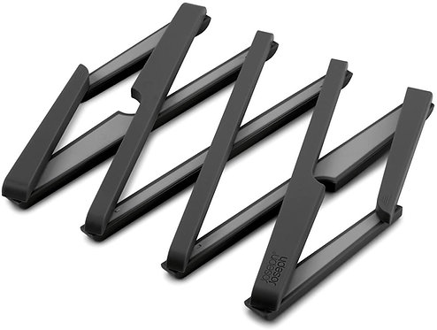 Dessous de Plat étirable en composite silicone/nylon Joseph Joseph NOIR