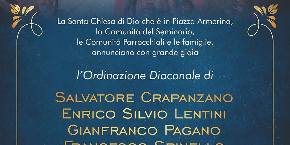 Ordinazione Diaconale di Enrico Lentini, Francesco Spinello, Gianfranco Pagano e Salvatore Crapanzano
